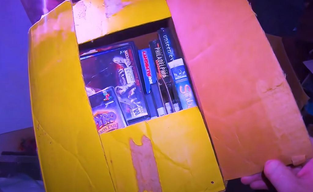 Część gier znalezionych w opuszczonym domu.