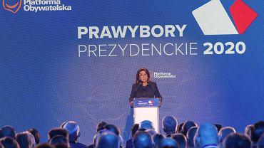 Małgorzata Kidawa-Błońska na konwencji krajowej Platformy Obywatelskiej