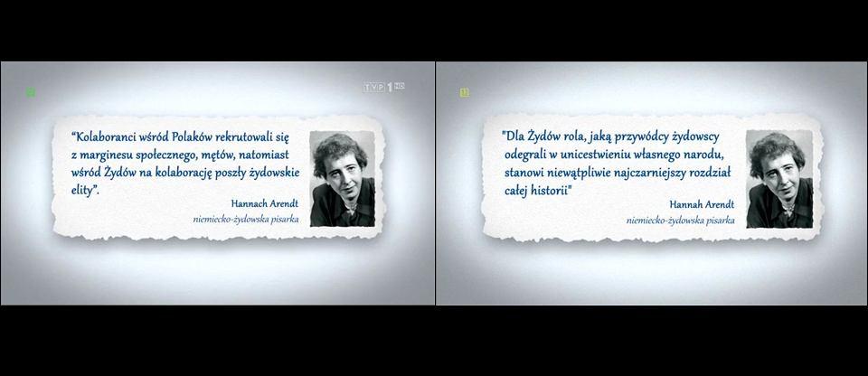 Tvp Podmienia Cytaty Z Hannah Arendt