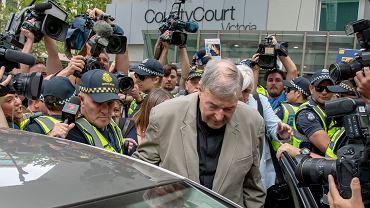 Kardynał George Pell został uznany przez sąd w Melbourne winnym czynów pedofilii, 26.02.2019.