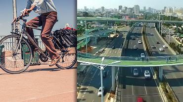 W Chinach powstała najdłuższa na świecie podwieszana ścieżka rowerowa