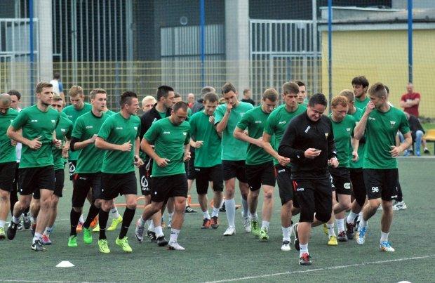 Pierwszy trening GKS Tychy po wakacjach