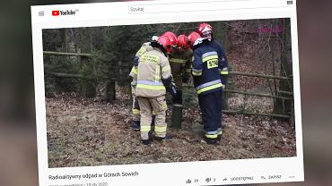 Strażacy rozbroili 'radioaktywny' pojemnik w Górach Sowich