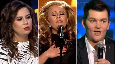 W pierwszym odcinku nowego sezonu programu 'Twoja Twarz Brzmi Znajomo' nie zabrakło emocji, a atmosfera rosła z każdą kolejną piosenką. Brawurowo zaprezentowała się Monika Borzym, której rola Adele została doceniona przez jurorów. Na pierwszym miejscu uplasowała się jednak Zofia Nowakowska, która oczarowała wszystkich dynamicznym tańcem i świetnym głosem, śpiewając 'Ain't Your Mama' jako Jennifer Lopez. Jednak możemy się założyć, że w pamięć zapadnie jeszcze jeden fragment programu. Czy jest ktoś, kogo nie oczarowała Katarzyna Popowska jako... Zenon Martyniuk z zespołu 'Akcent'? Zobaczcie wszystkie metamorfozy pierwszego odcinka!