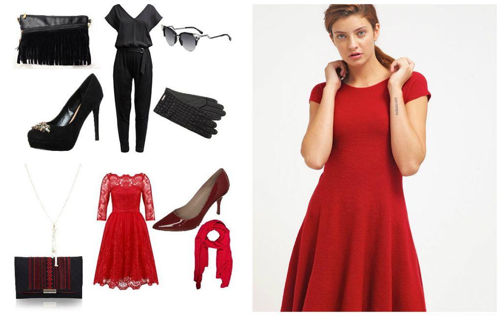 Czerń czy czerwień - wybierz swój kolor spośród naszych gotowych stylizacji
