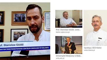 Materiał 'Wiadomości' TVP i zdjęcia prof. Stanisław Góździa.