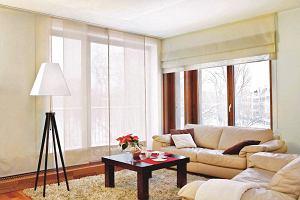 Zasłony panelowe - pomysł na aranżację okien i ścian