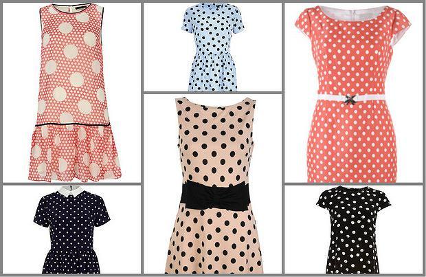 Sukienki w groszki - od 39,99 zł