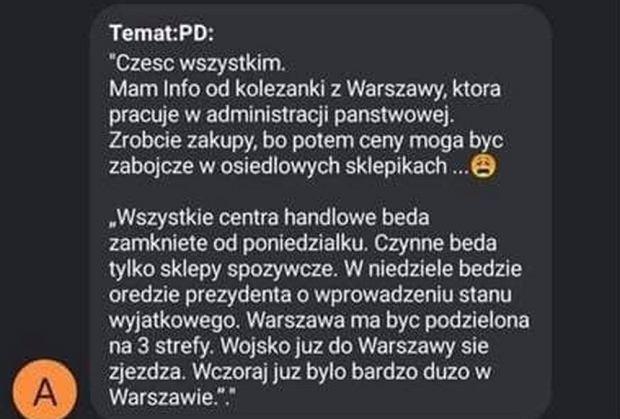 Koronawirus. FakeNews podany jako przykład przez policję