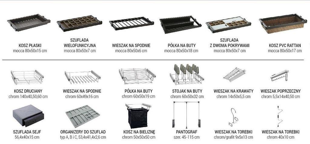 Wyposażenie szafy, które pomaga zorganizować przechowywanie