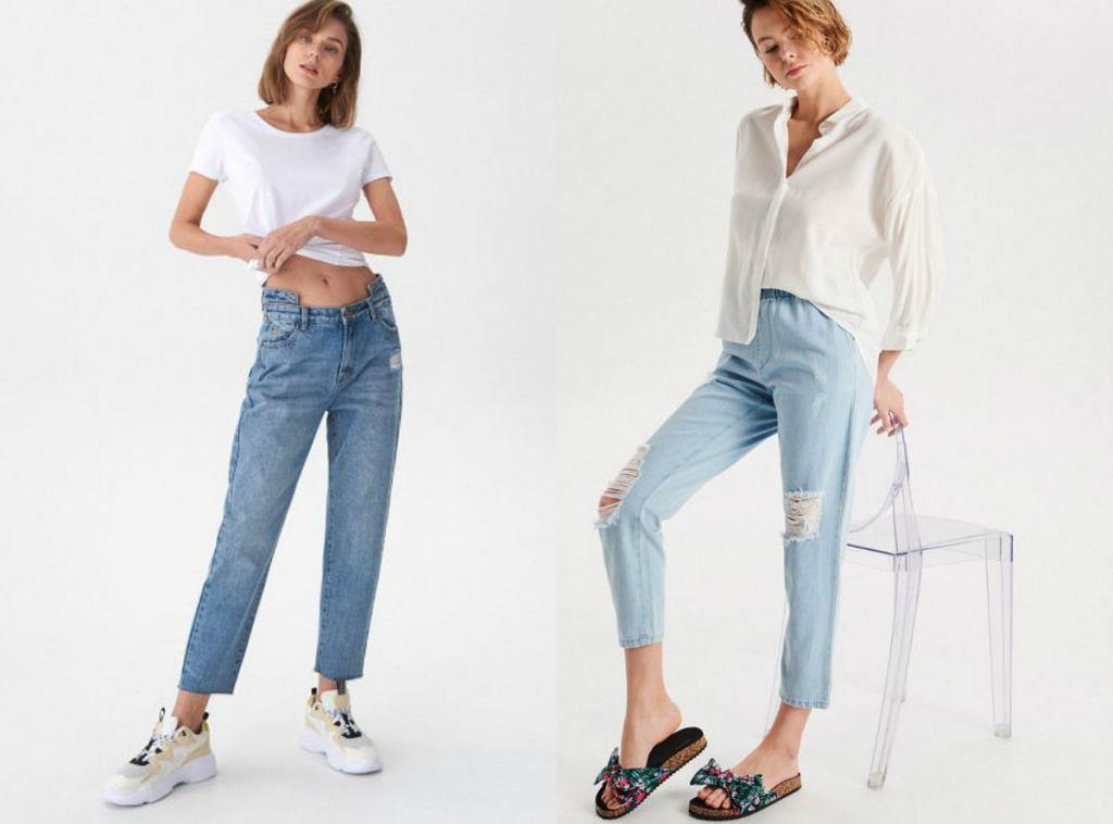 jeansy z prostą nogawką