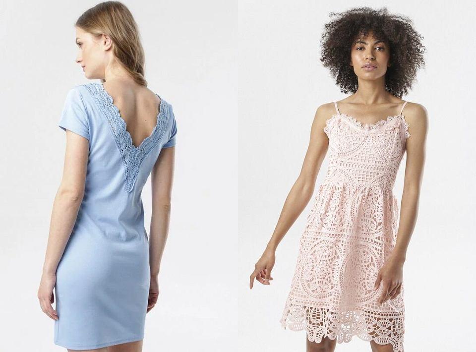 Ażurowe sukienki w pastelowych kolorach