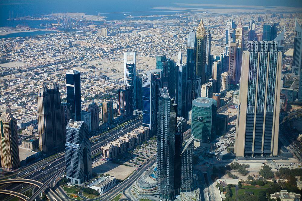 Widok na Dubaj z Burdż Chalifa