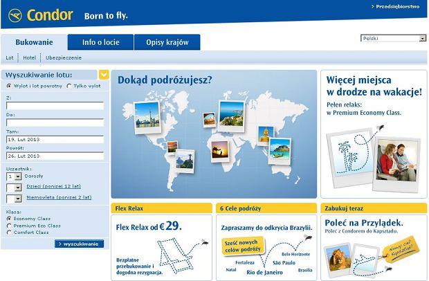 Condor / fot. print screen ze strony internetowej