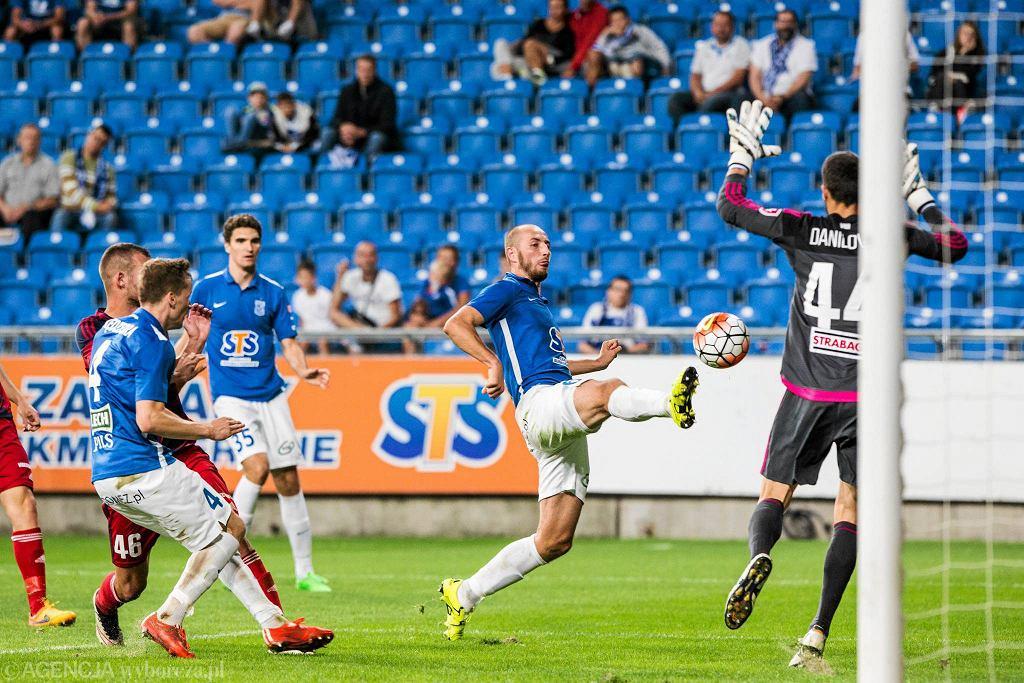 Lech Poznań - Videoton Szekesfehervar 3:0 w pierwszym meczu IV rundy eliminacji do Ligi Europy. Szymon Pawłowski