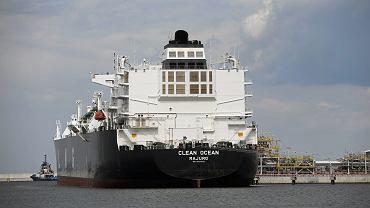 8.06.2017, amerykański gazowiec Clean Ocean w gazoporcie w Świnoujściu
