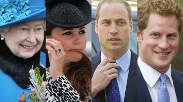 Księżna Kate, Książę William, Książę Harry, Królowa Elżbieta II