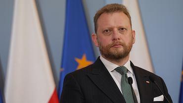 Minister zdrowia w rządzie PiS podczas konferencji dot. pandemii koronawirusa. Warszawa, 27 maja 2020