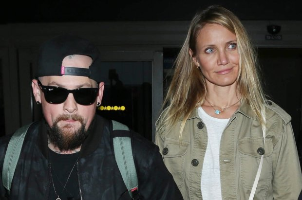 BAUERGRIFFIN.COM  Cameron Diaz and Benji Madden are seen at LAX.   NON-EXCLUSIVE                  August 31st 2015  Job:150831NR1                            Los Angeles, CA  www.bauergriffin.com