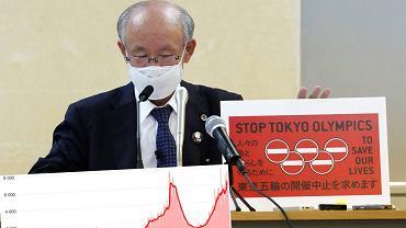 Prawnik pokazuje petycje przeciwko IO w Tokio