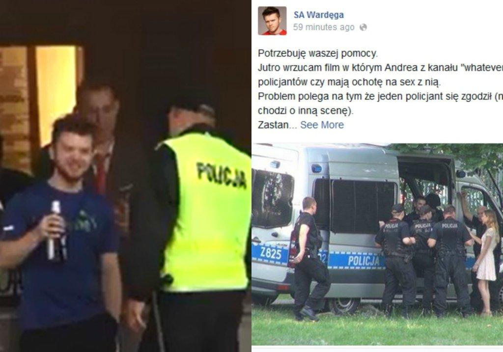 Wardęga uprzykrza życie policjantom