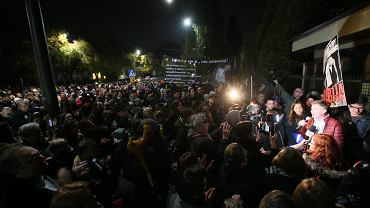 Protest pod domem Kaczyńskiego