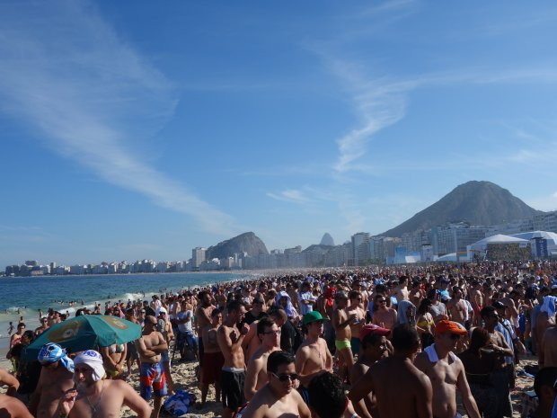 Plaża w dzielnicy Copacabana