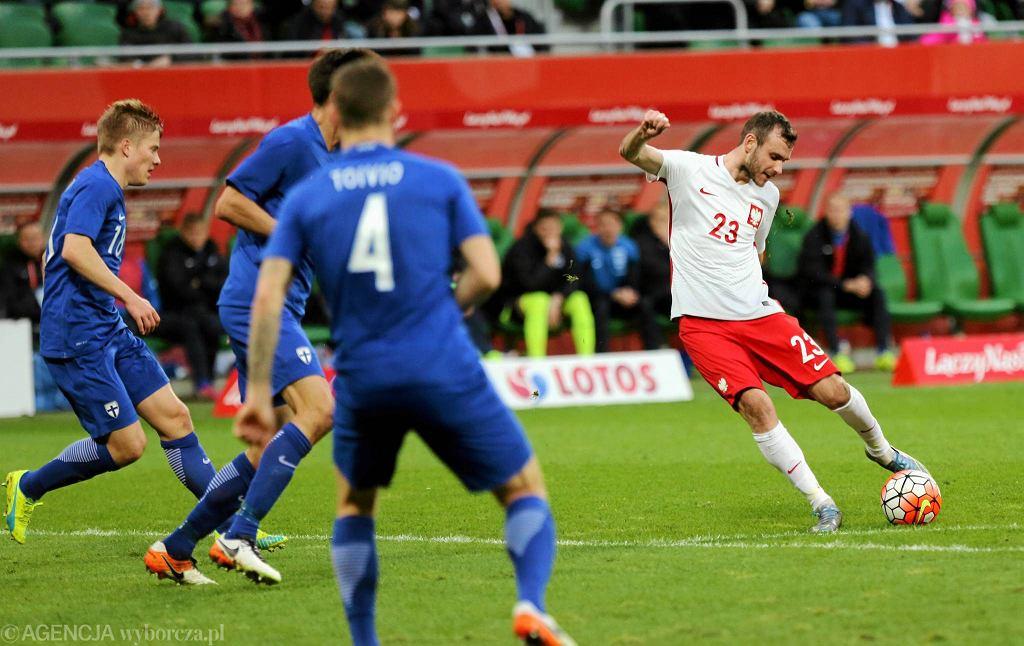 Filip Starzyński w meczu Polska - Finlandia
