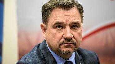 Przewodniczący NSZZ 'Solidarność' Piotr Duda