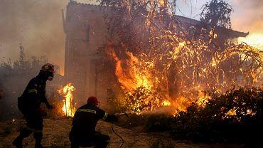 Grecja: Pożar na wyspie Eubea