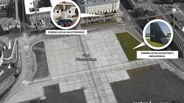 Pomniki Lecha Kaczyńskiego i Ofiar Katastrofy Smoleńskiej w Warszawie
