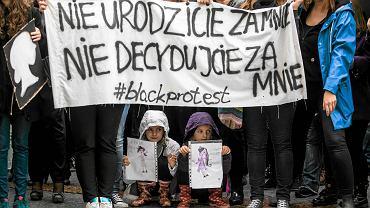 Lublin, październik 2016, Strajk Kobiet - Czarny Protest przeciw pierwszej próbie zaostrzenia ustawy antyaborycjnej