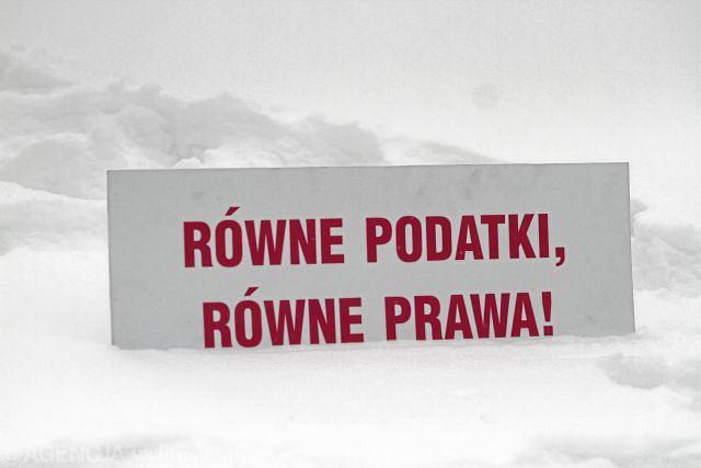 23 stycznia 2013, demonstracja zwolenników związków partnerskich pod Sejmem
