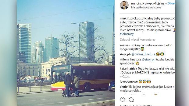 Marcin Prokop zrobił zdjęcie rodzicom narażającym bezpieczeństwo dziecka. 'Na dziecko powinni wydawać zgodę'