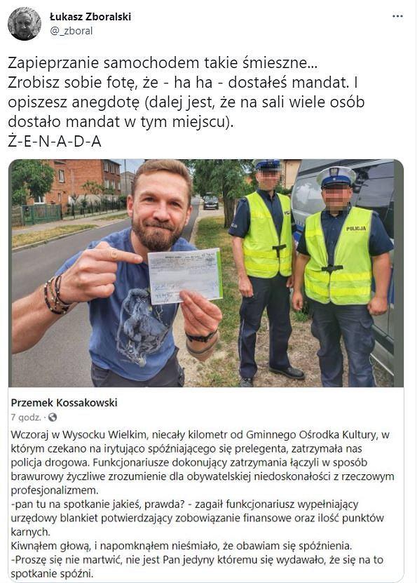 Dziennikarz komentuje wpis Kossakowskiego