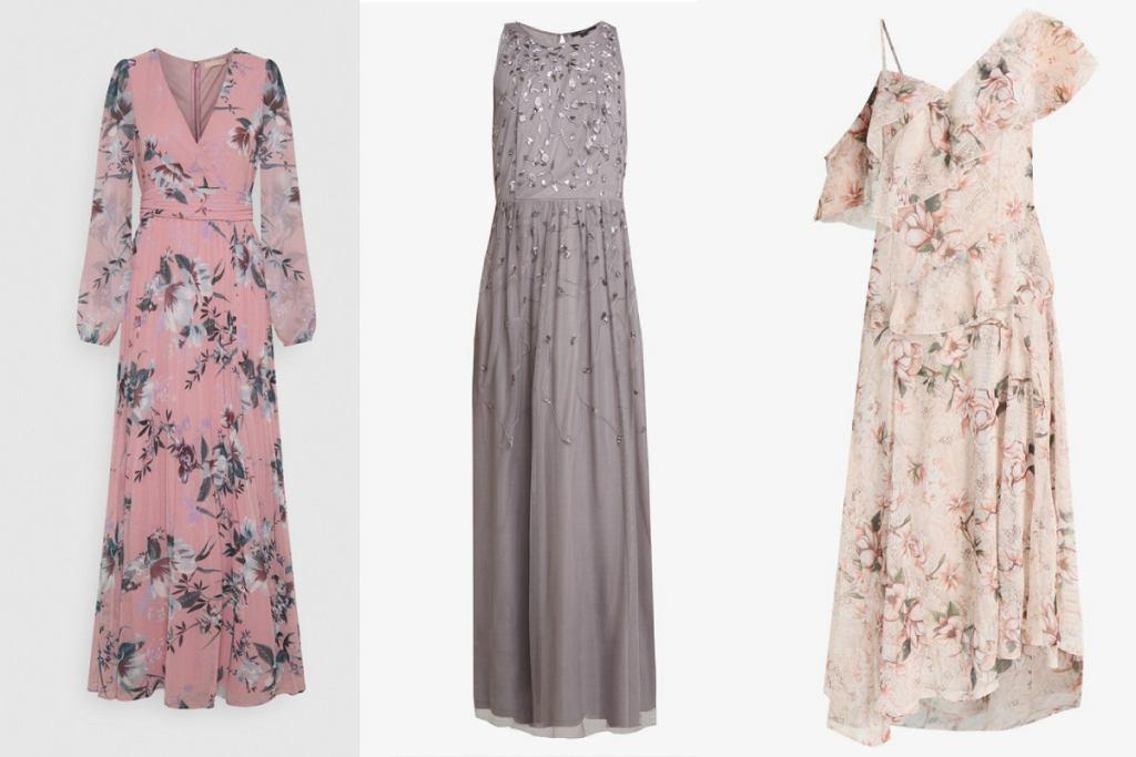 Długie sukienki w kwiaty to świetna opcja nie tylko na wesele!