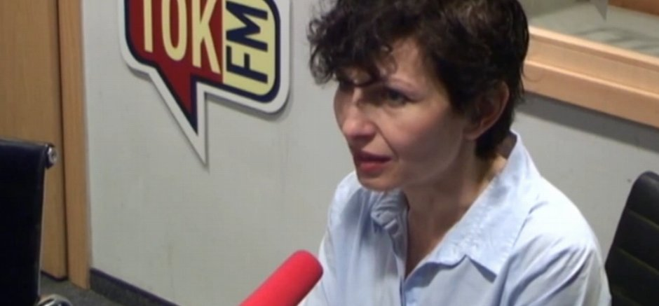 Renata Kim w studiu radia TOK FM