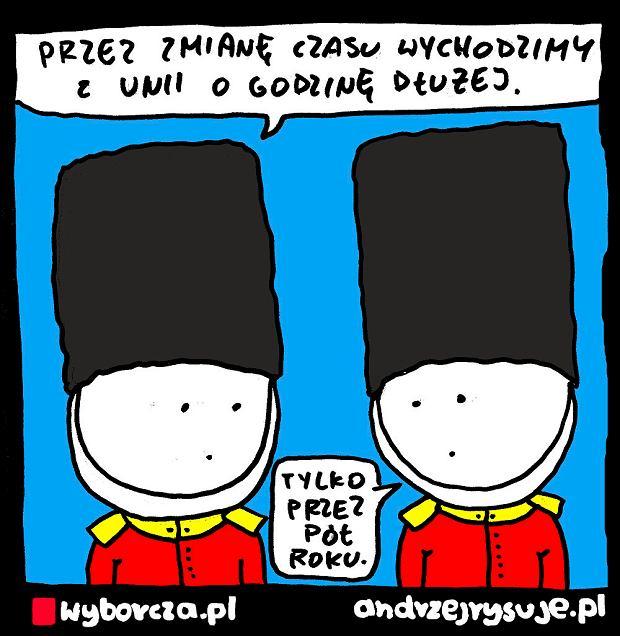 Andrzej Rysuje   BREXIT OPÓŹNIONY - Andrzej Rysuje   BREXIT OPÓŹNIONY -