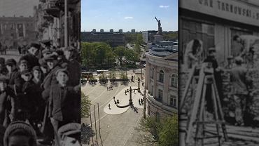 Plac Politechniki podczas 75. rocznicy w getcie warszawskim.