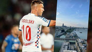 Lukas Podolski przebywający na kwarantannie w Niemczech