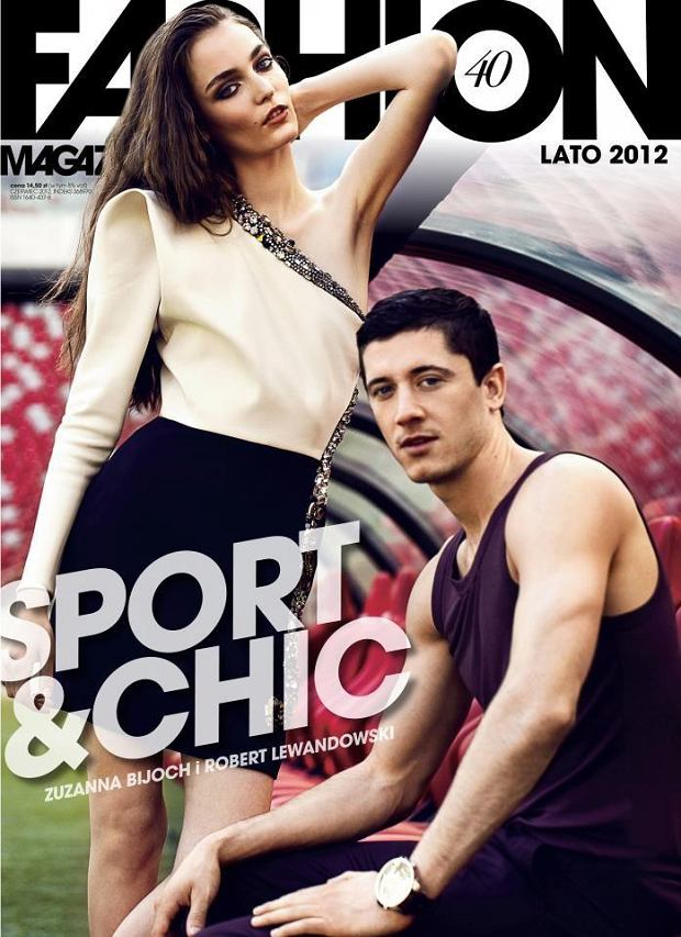 Zuzanna Bijoch i Robert Lewandowski w Fashion Magazine