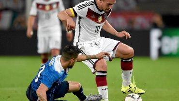 Niemcy - USA. Lukas Podolski