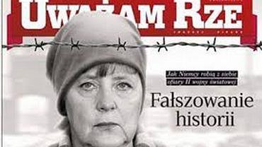 """Angela Merkel w oświęcimskim pasiaku na okładce """"Uważam Rze"""""""