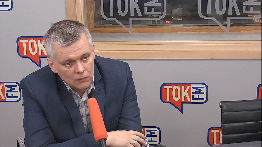 Tomasz Siemoniak w studiu TOK FM.