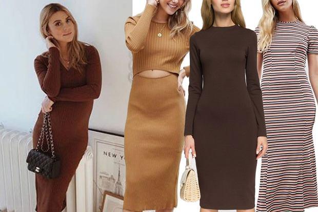 dopasowane sukienki midi / mat. partnera / www.instagram.com/makelifeeasier_pl/