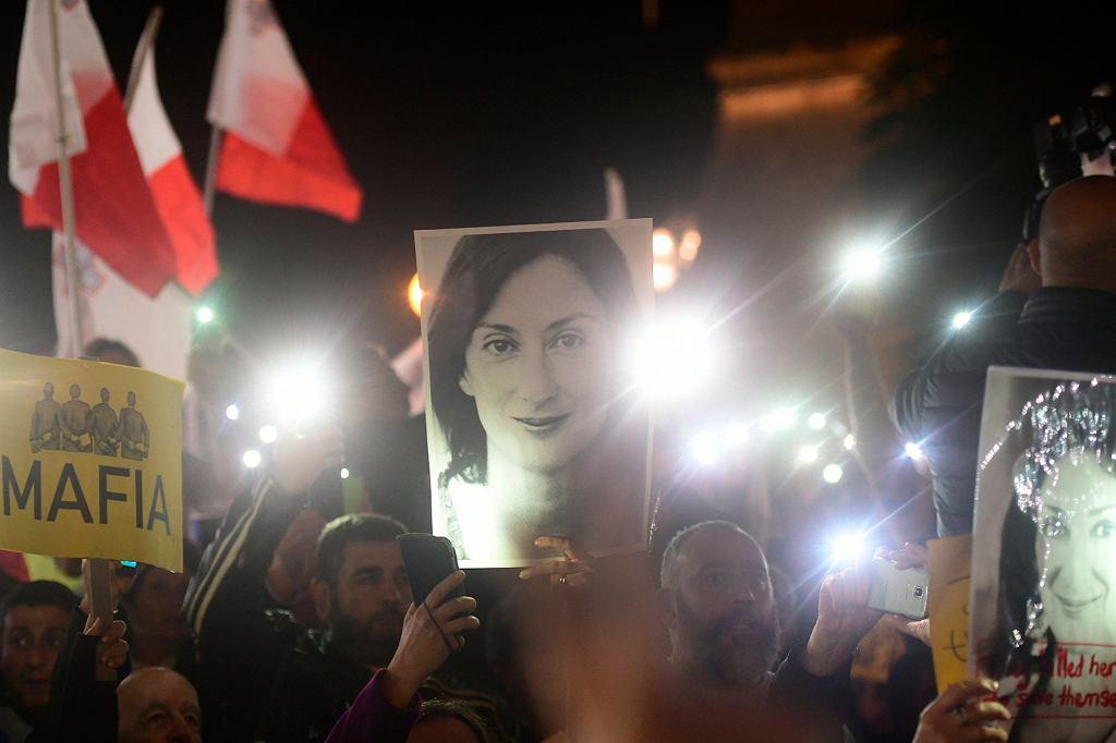 Protest ws. śmierci Daphne Caruany Galizii