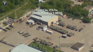 Wojskowe bazy separatystów w Ługańsku