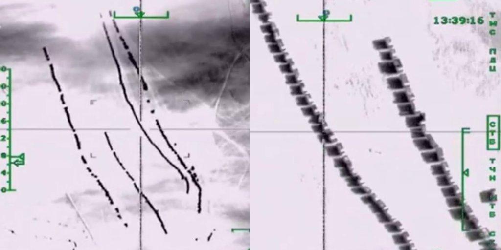 Nagranie z bombardowania konwoju z ropą naftową organizacji Państwo Islamskie