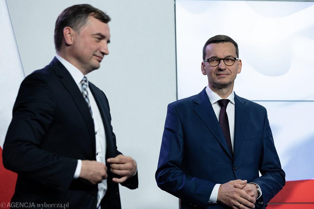 Zbigniew Ziobro, Mateusz Morawiecki