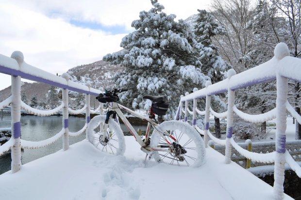 Rowerem w śnieg